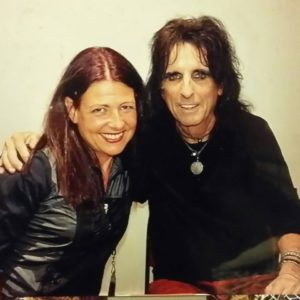 Robina Flood With Her Friend Alice Cooper