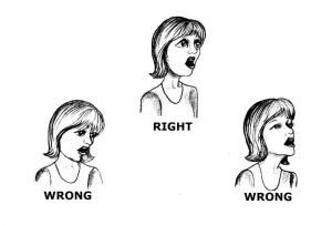 The Right Posture While Singing